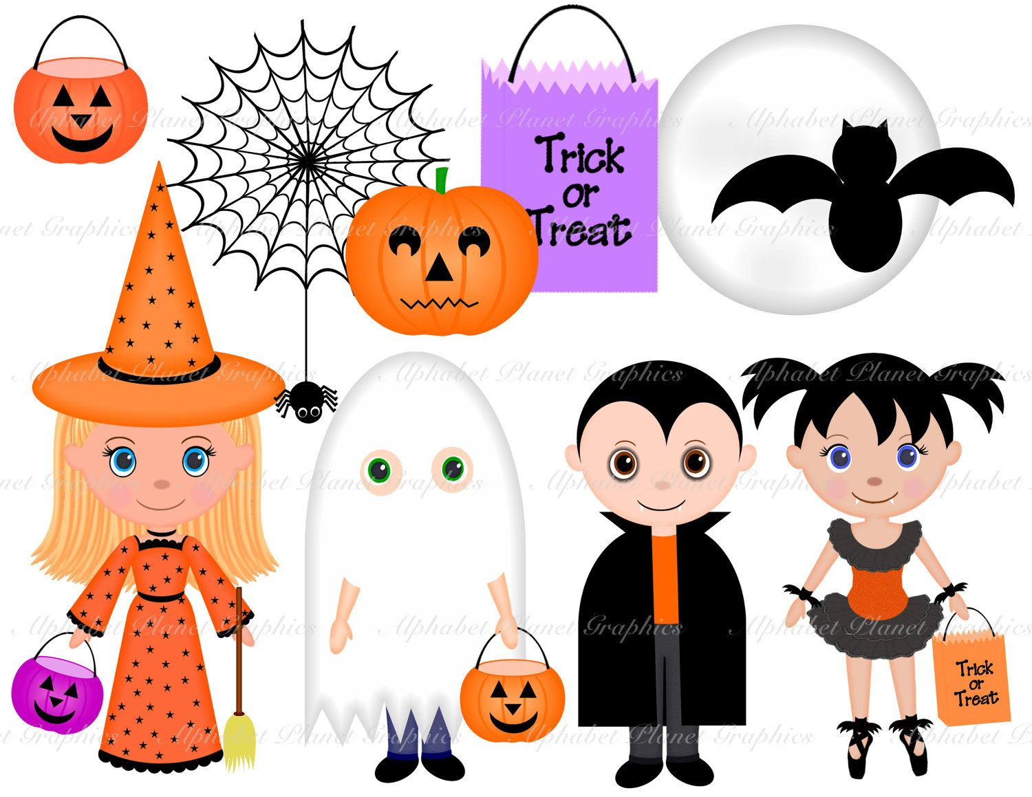 Halloween costumes kids digital. Costume clipart toddler