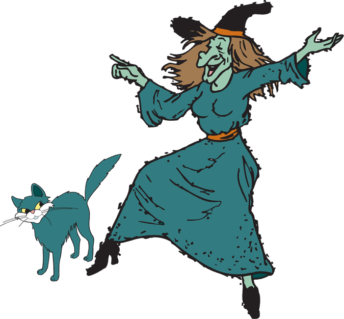 Witch clipart printable. Fun halloween kid
