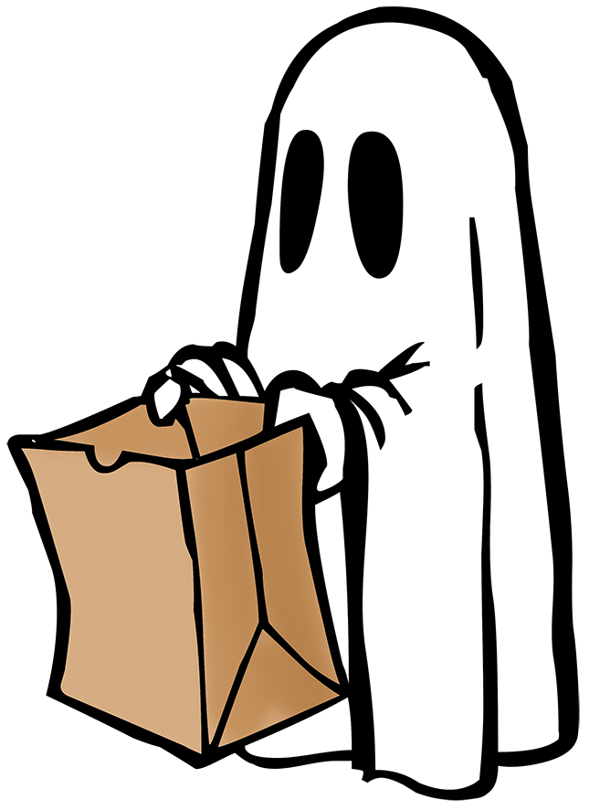 Ghost clipart vector. Happy halloween graphics witch