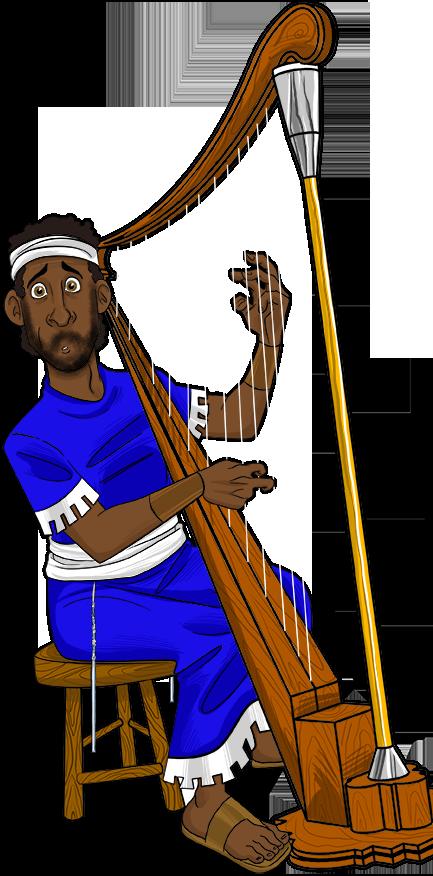 David plays his harp. King clipart patriarch