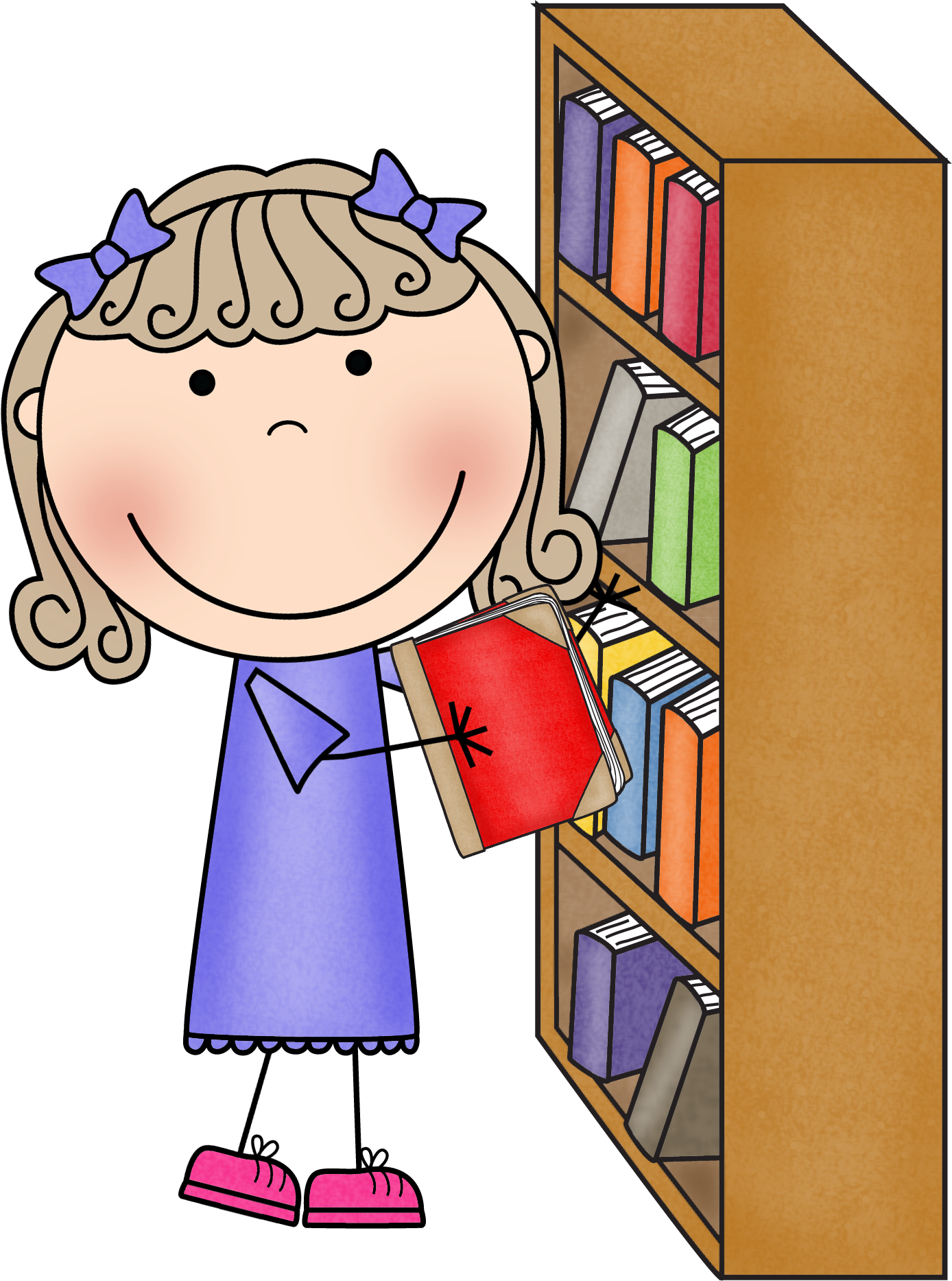 Organized clipart library, Organized library Transparent FREE for ...