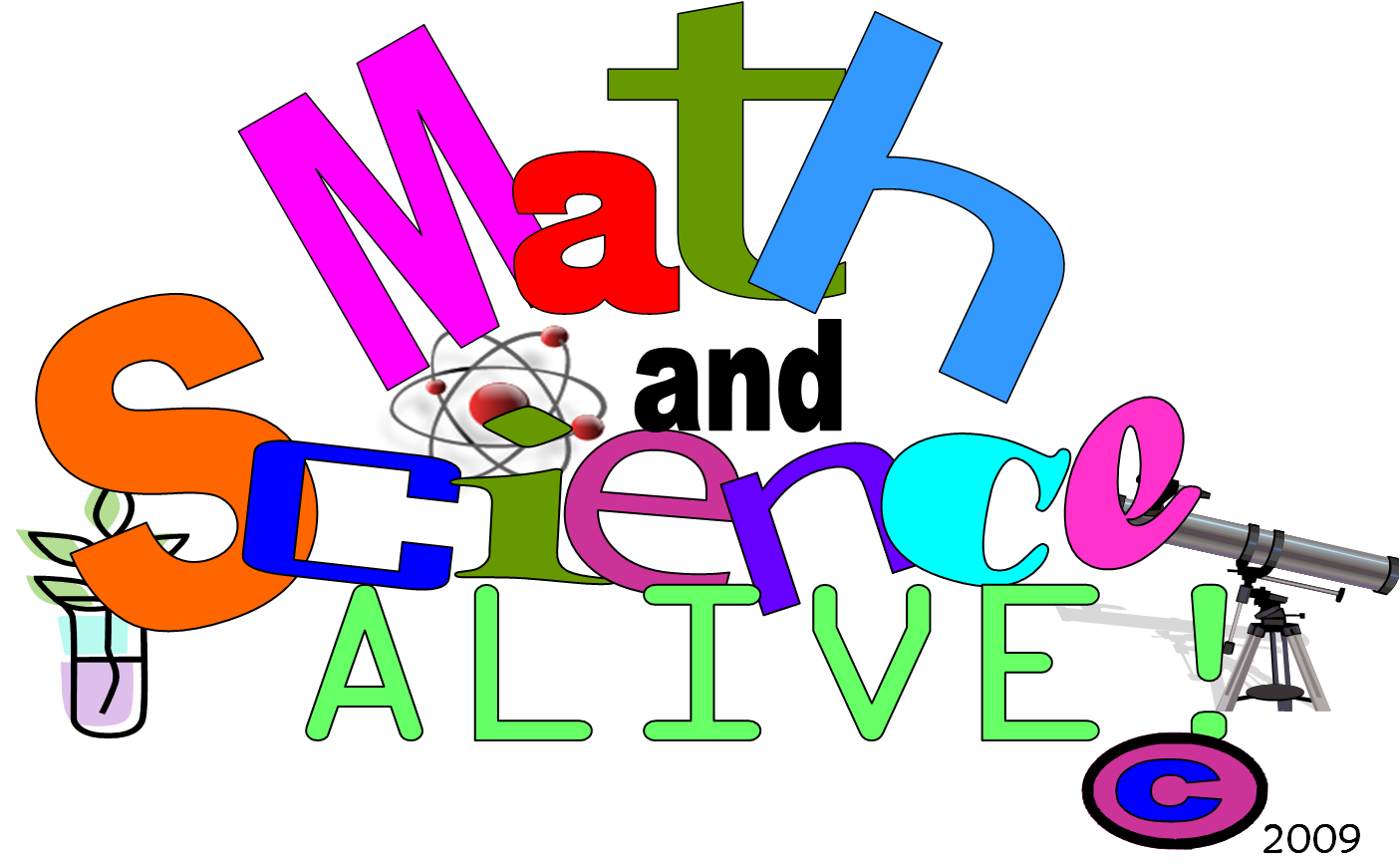 Clipart children math. And science