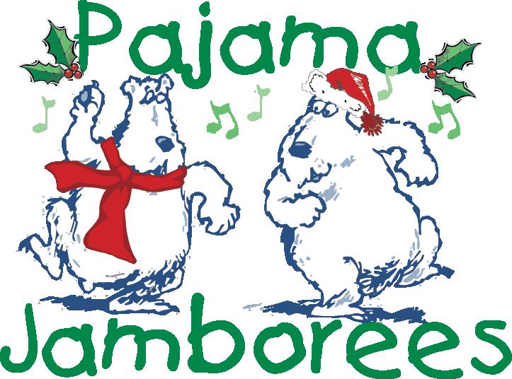 Pajama jamborees free pops. Pajamas clipart santa