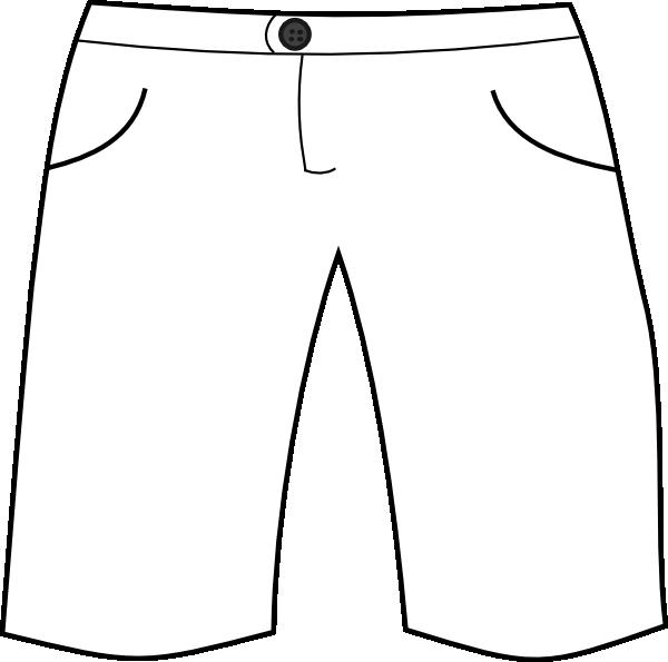 White shorts clip art. Kids clipart pants