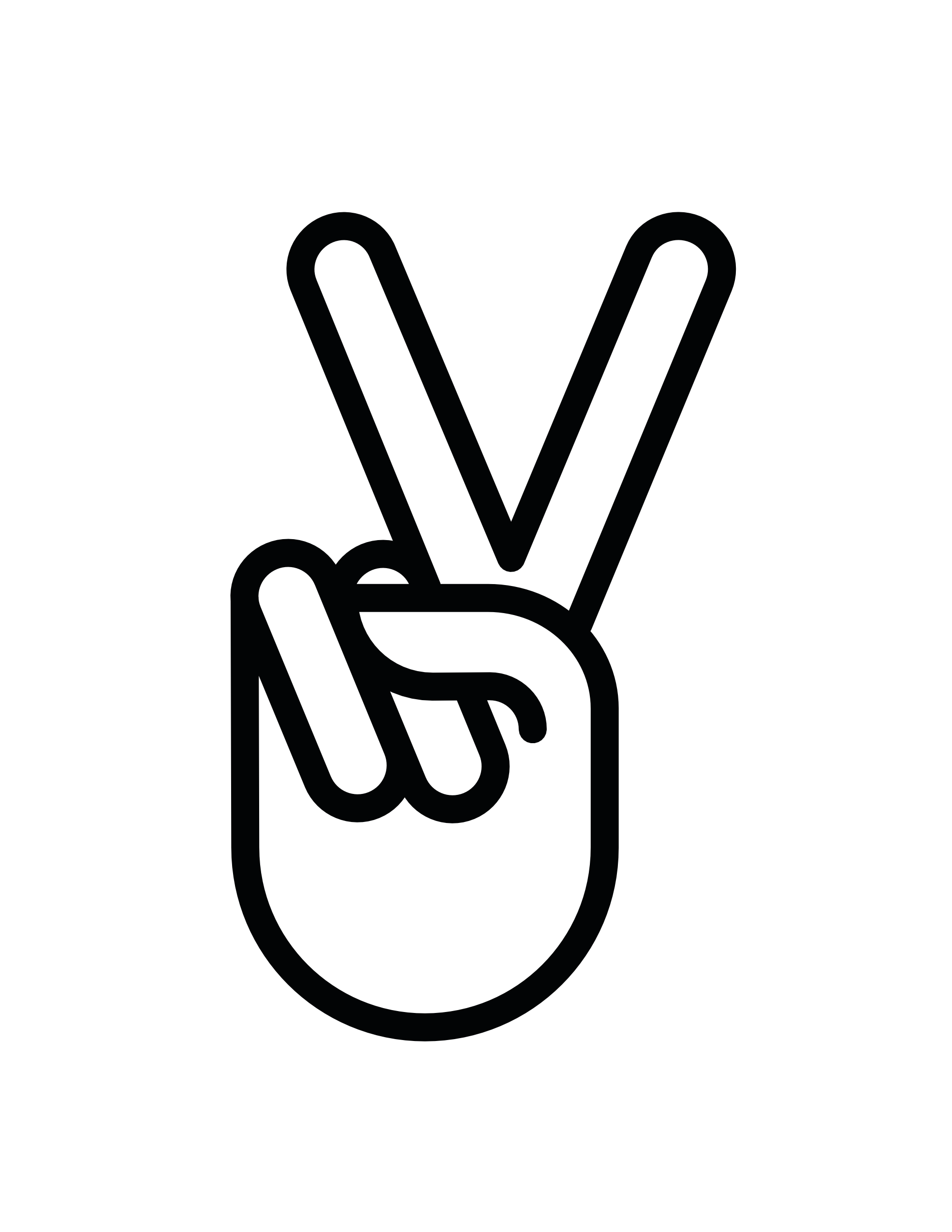Hand peace sign fav. Future clipart release