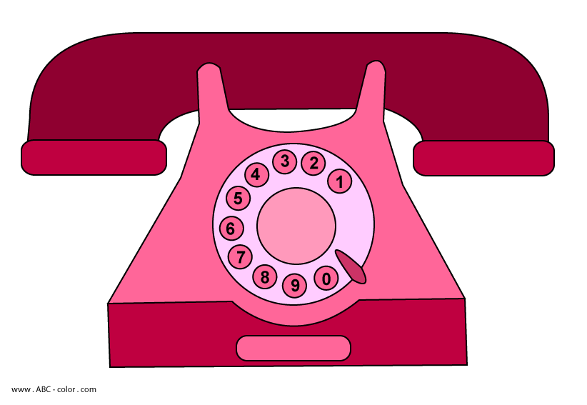 Telephone clipart rotary dial phone. Home raster