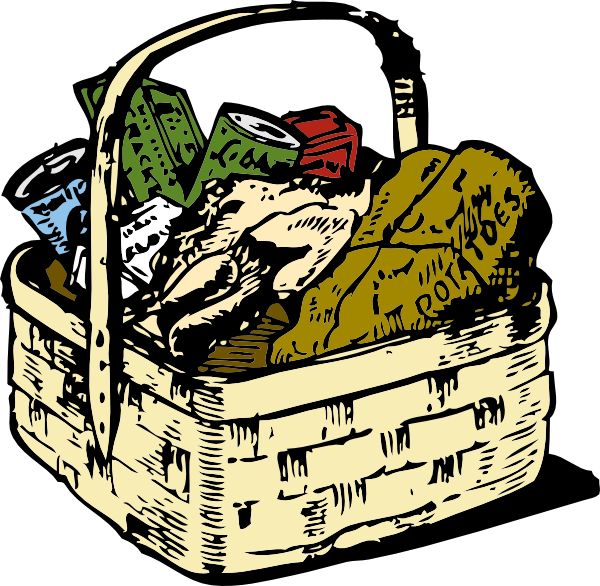 Company picnic clip art. Meat clipart basket