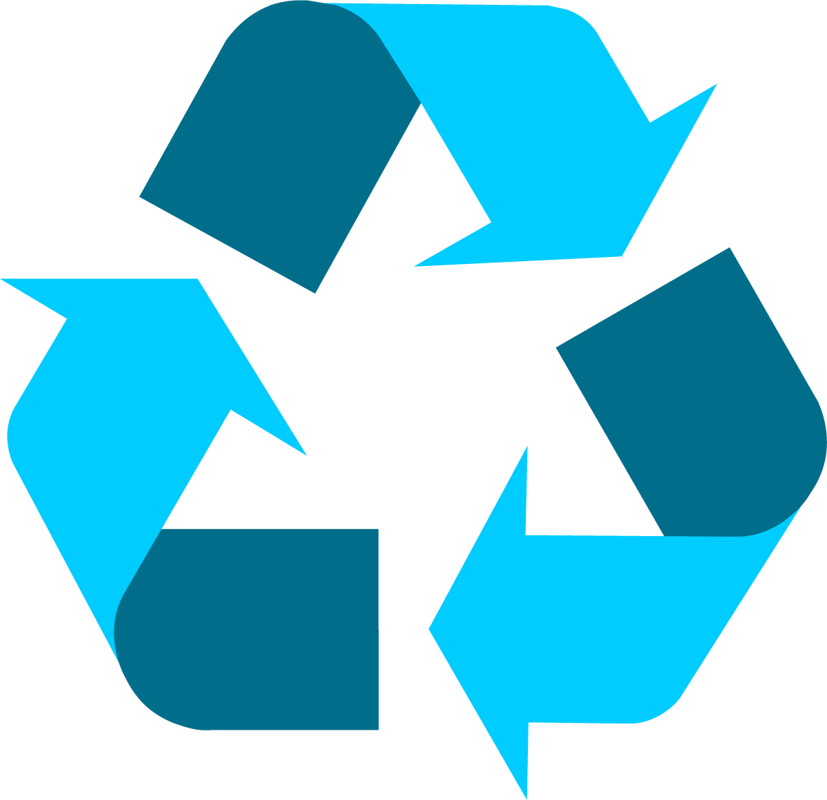 Grocery clipart recycling bag. Light blue universal symbol