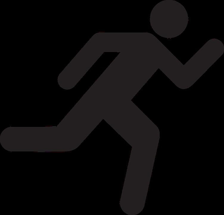 Guy clipart stick. Runner silhouette clip art