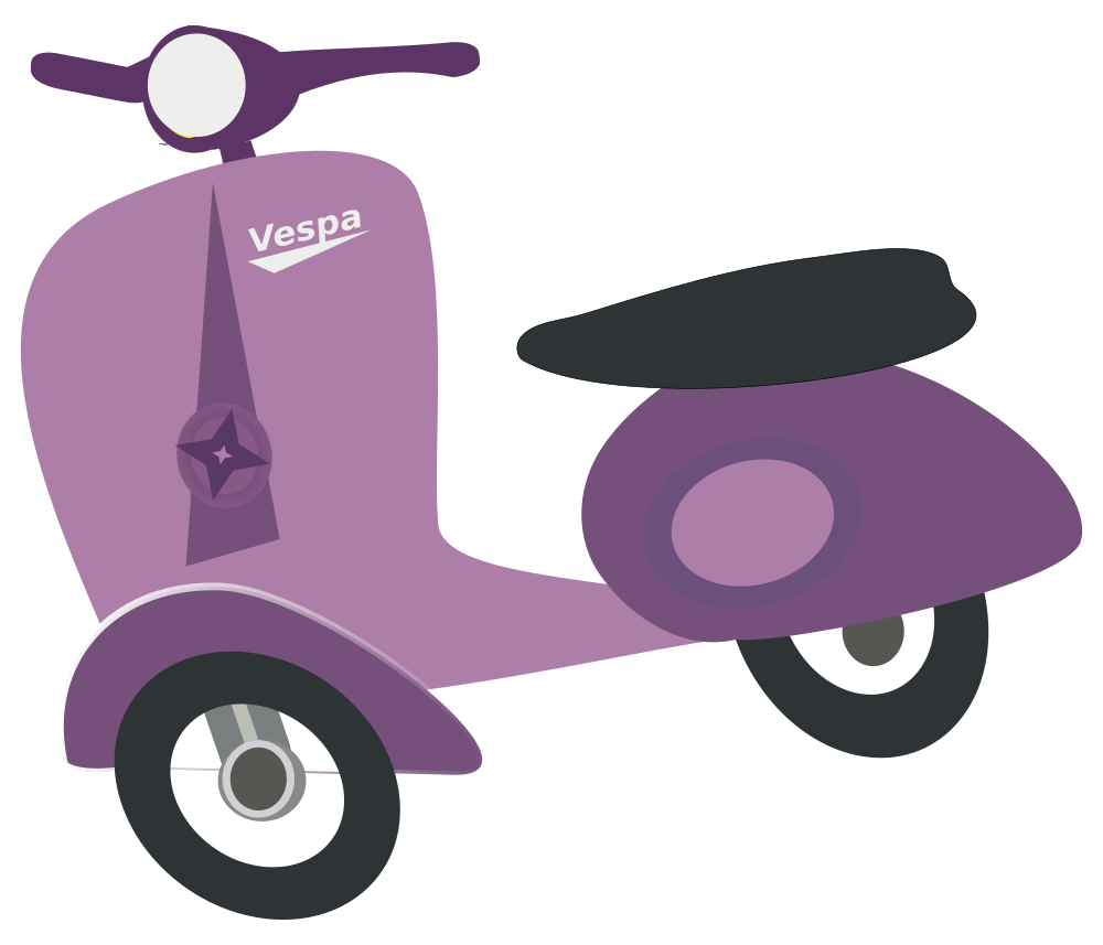 Onlinelabels clip art purple. Scooter clipart delivery scooter