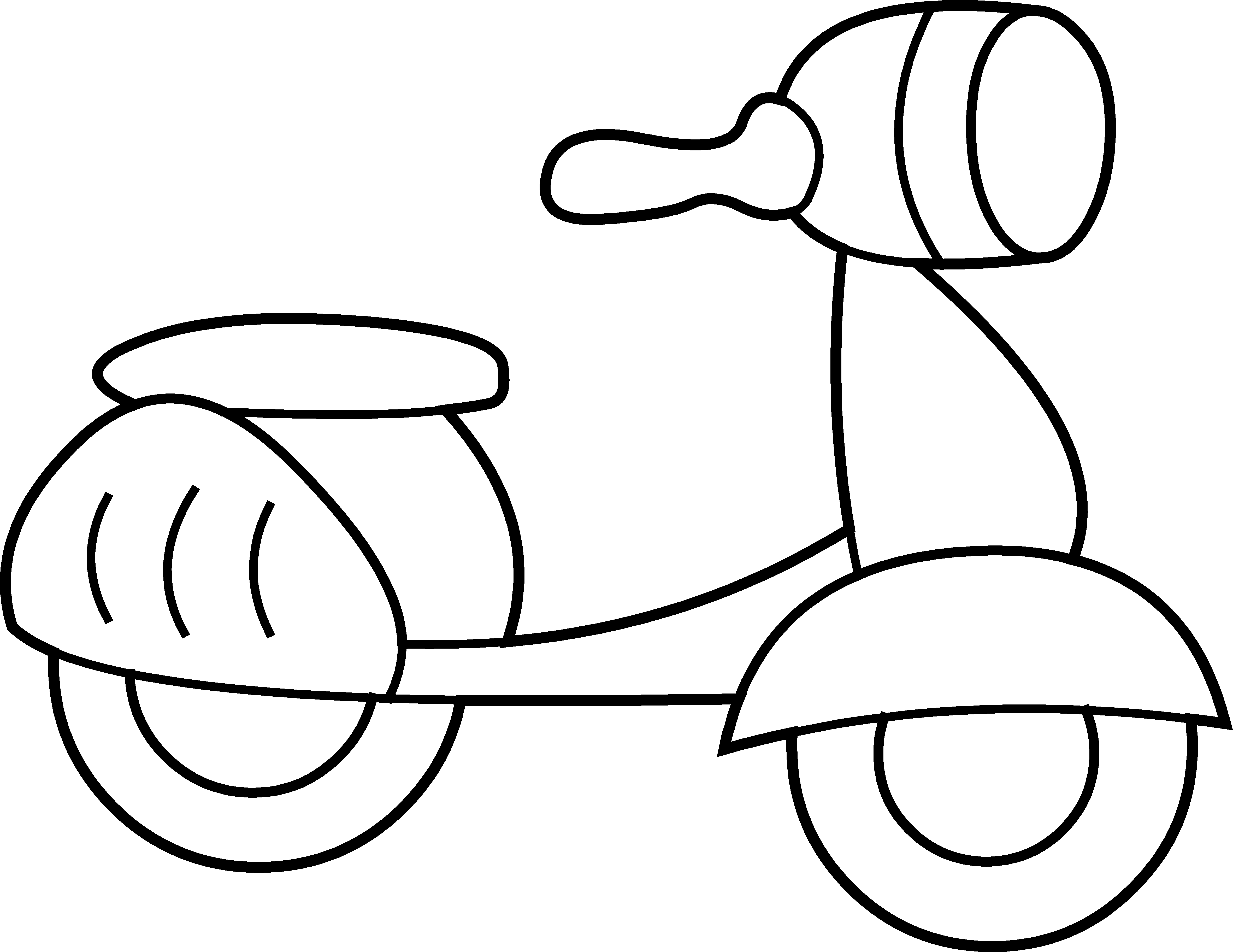 Mini coloring page free. E clipart scooter