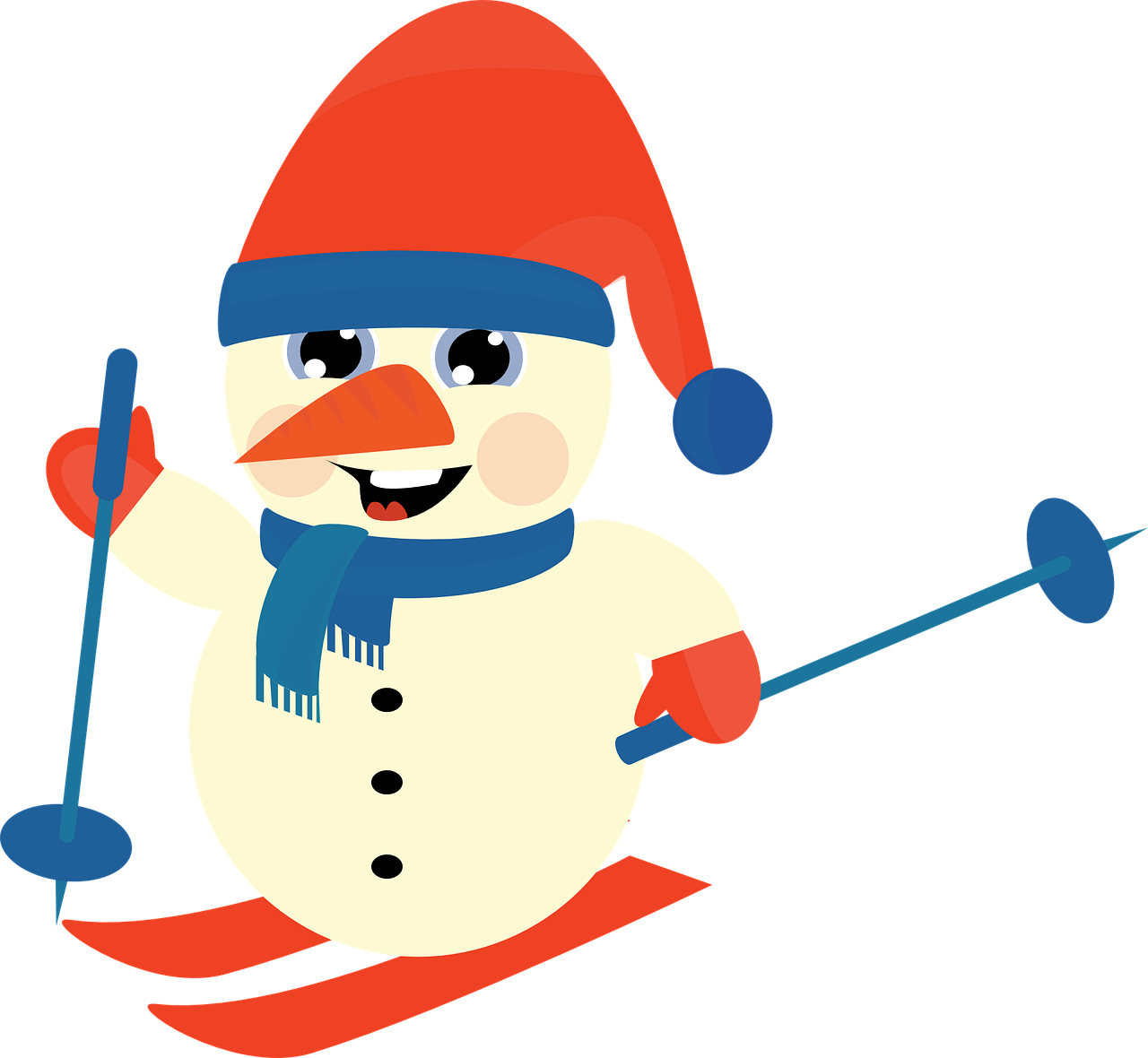 skiing clipart lady