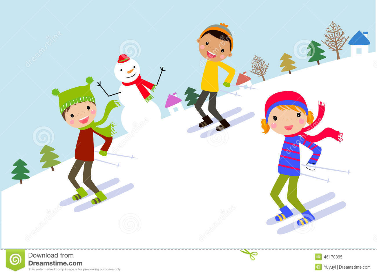 Skiing clipart child. Kids station