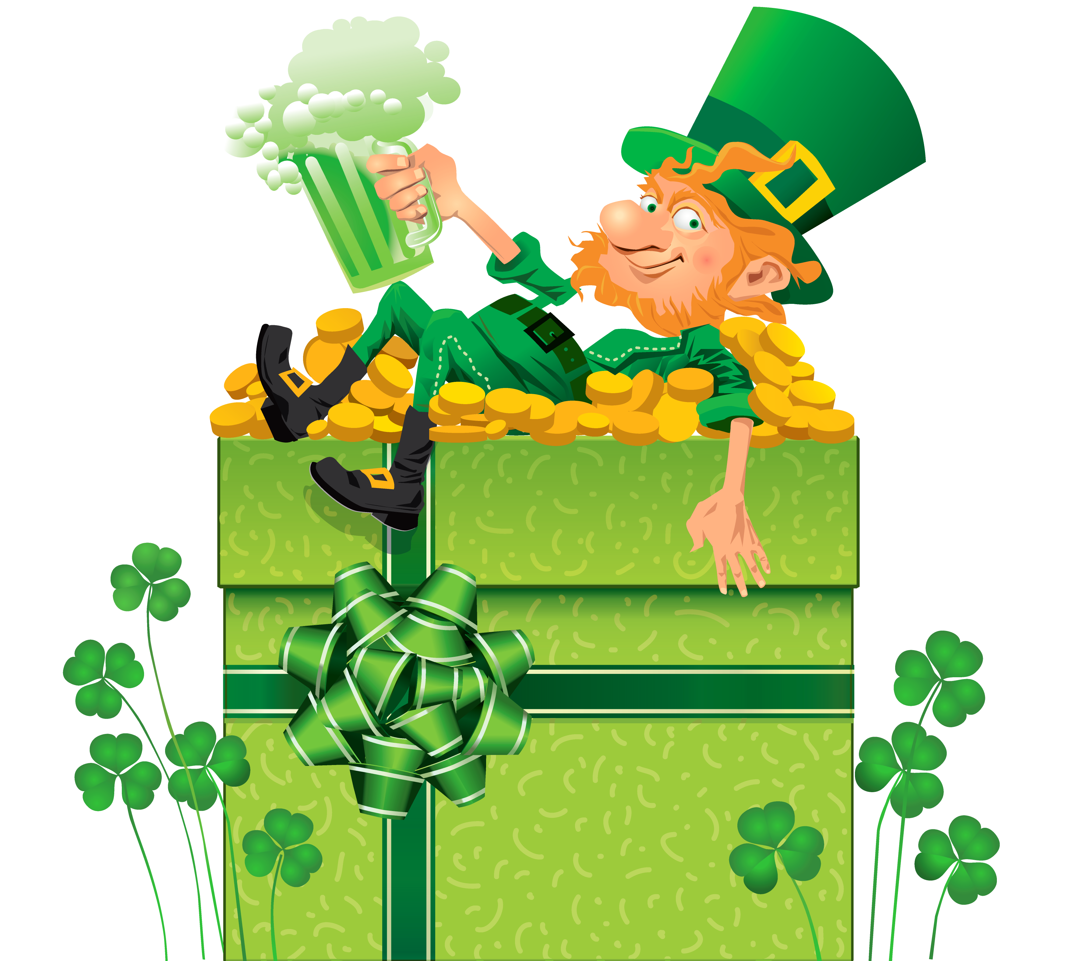 Clipart free st patricks day. Decor with shamrocks and