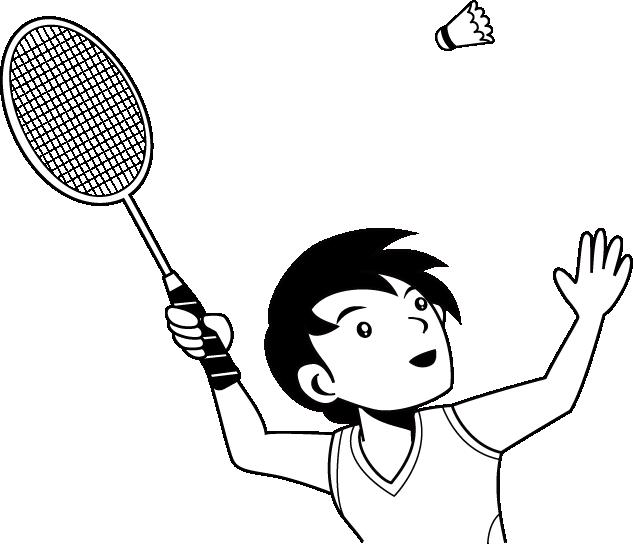 collection of badminton. Clipart children tennis