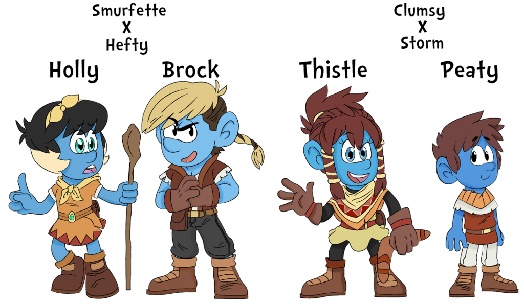 Worry clipart timid person. Smurf kids by dbkit
