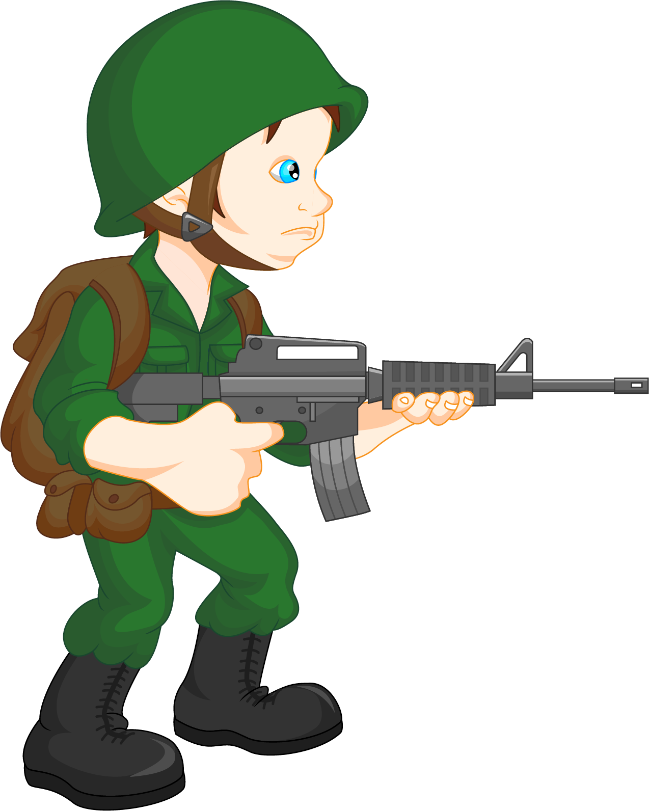 Army guy at getdrawings. Fighting clipart soldier