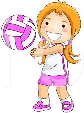 Clip art lets go. Volleyball clipart cartoon