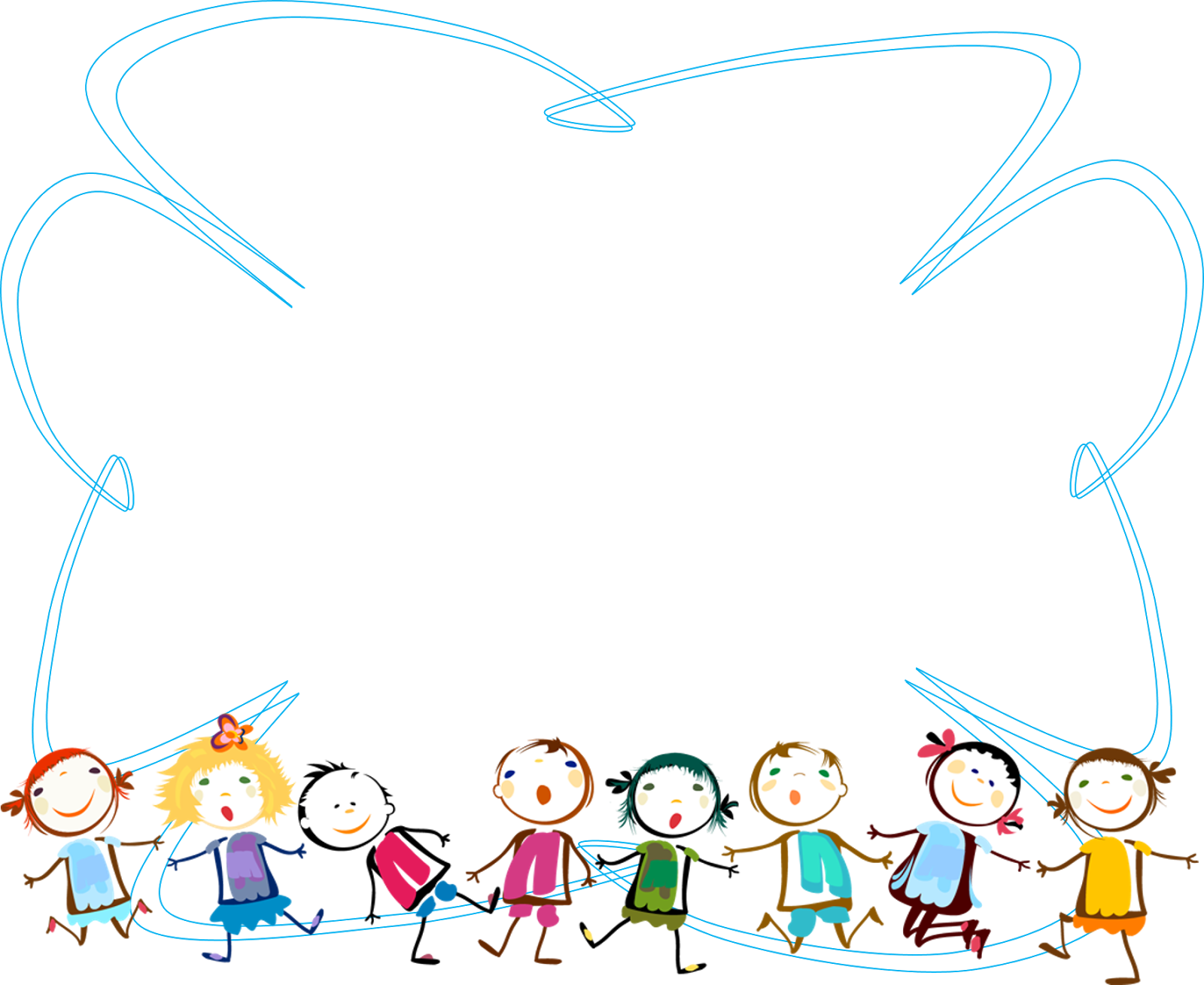 Topic for themed blue. Clipart children winter