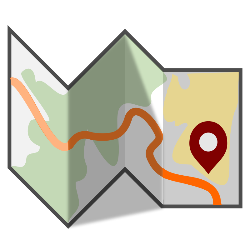 Clipart map nearby. Free folded travel clip