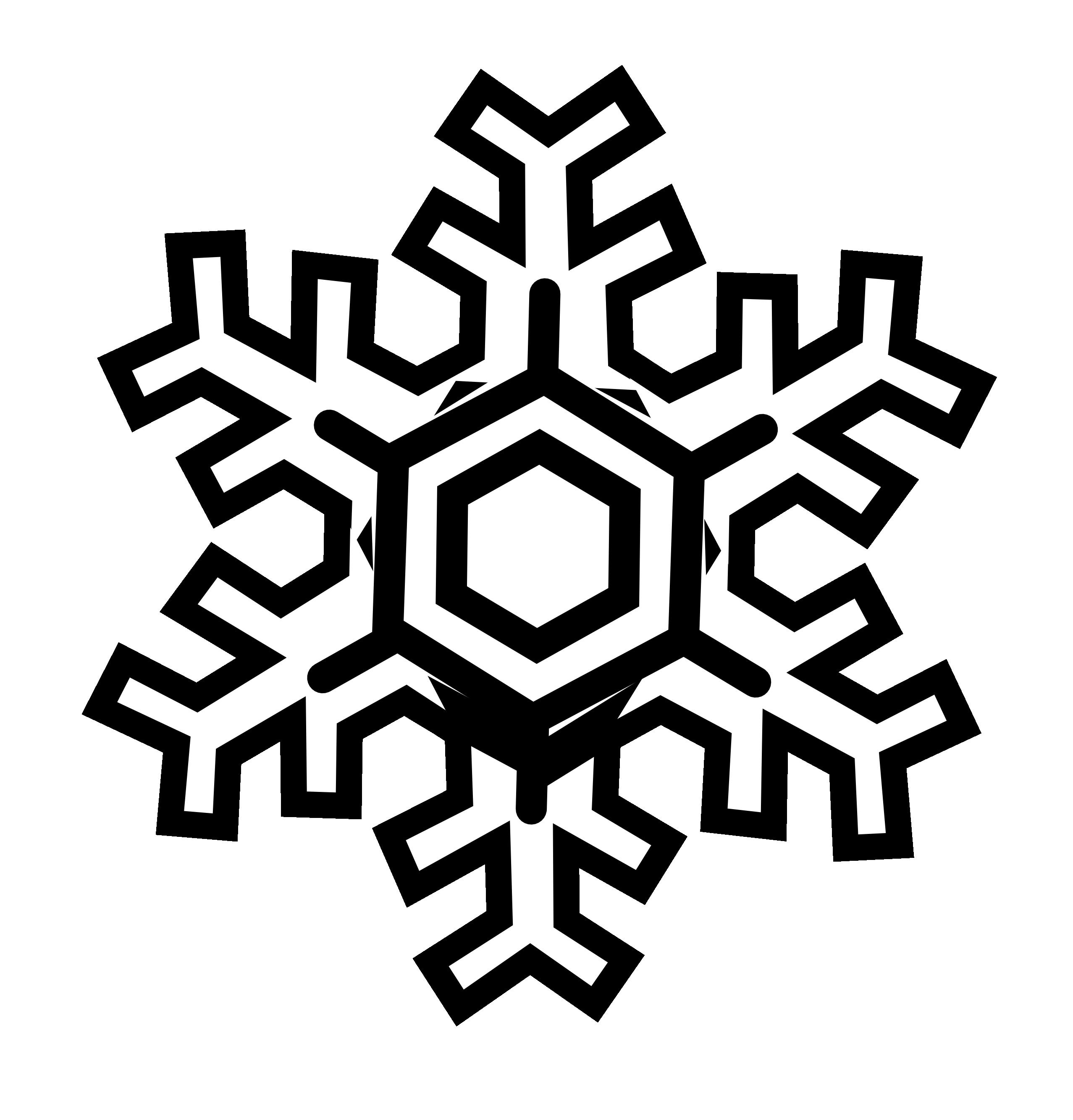Winter clipart flake. Snowflake black and white
