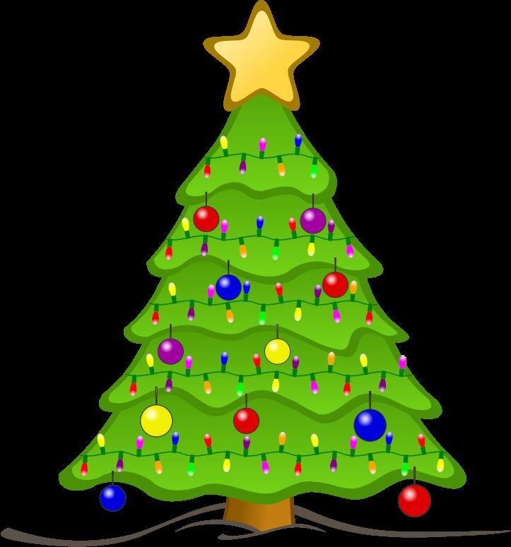 Christmas tree medium image. Holiday clipart animated