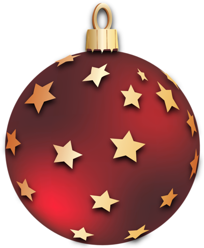 Ornaments clipart sphere. Transparent red christmas ball