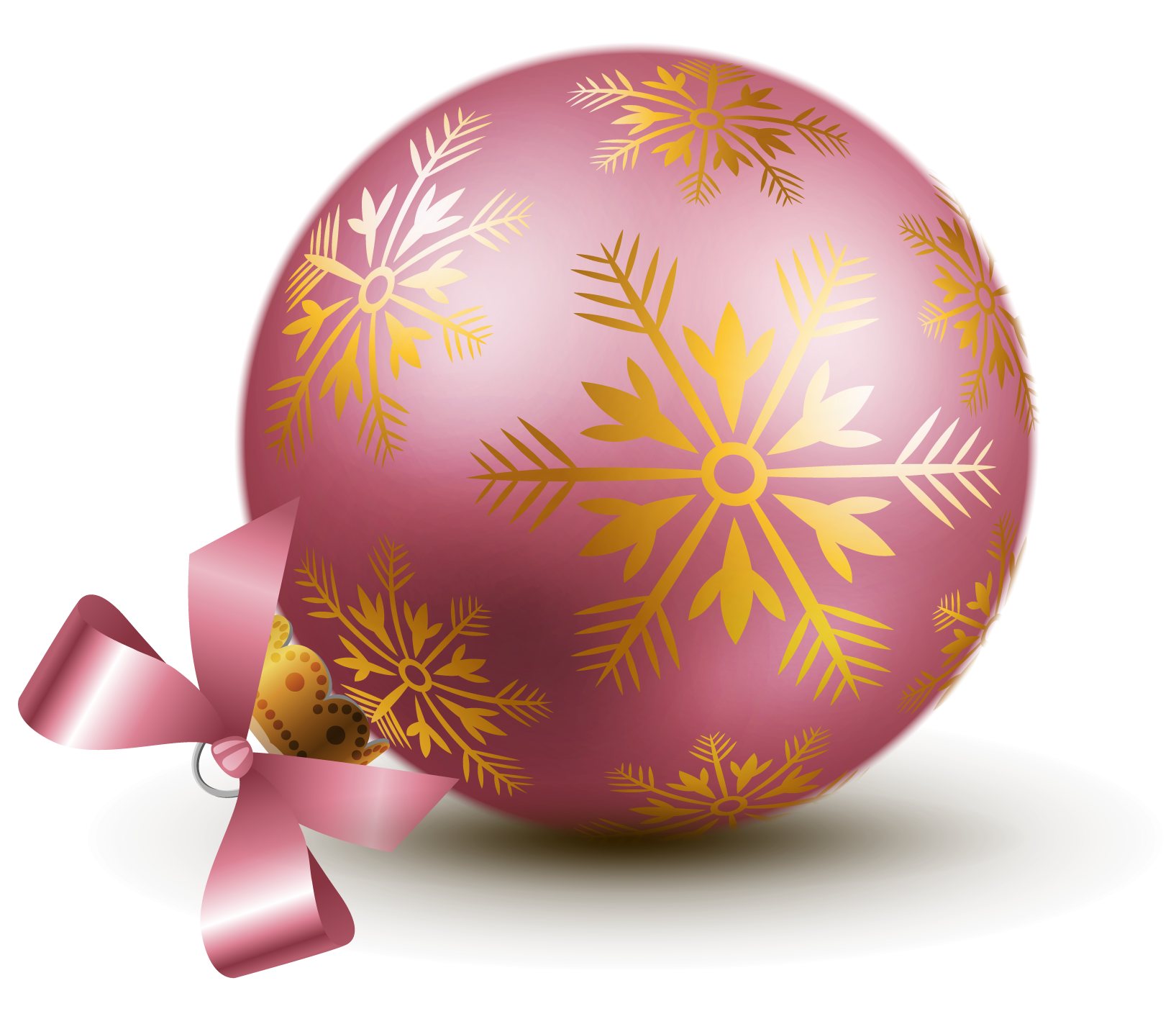 Transparent pink ball ornaments. Clipart christmas bauble