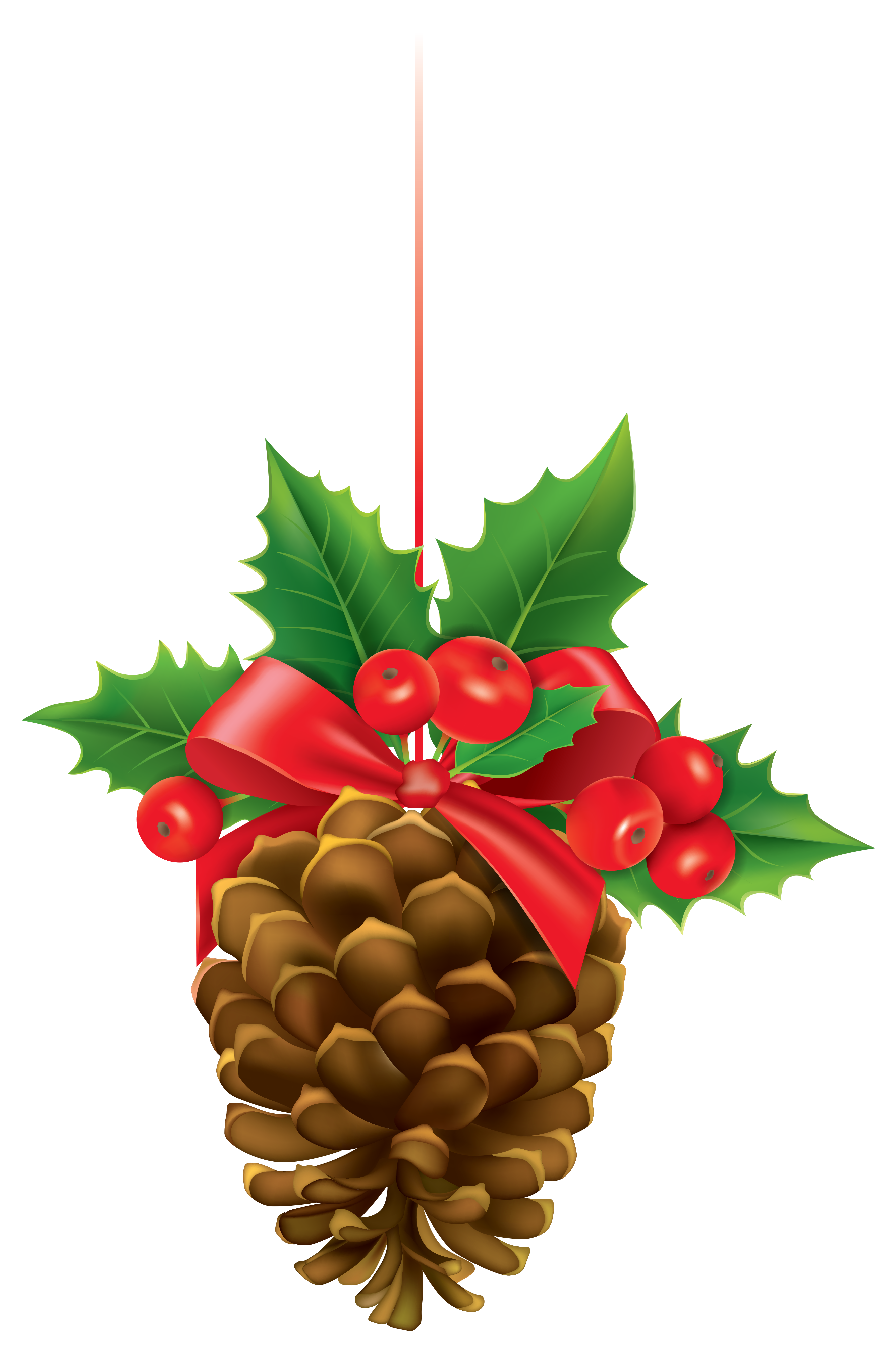 Scale clipart animated. Christmas pinecone with mistletoe