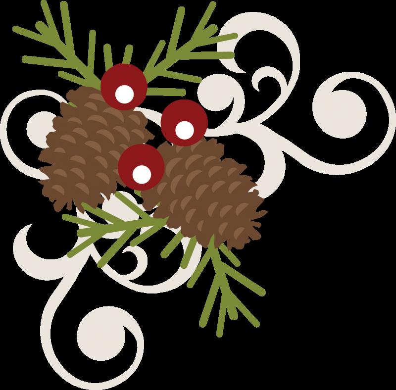 Clipart winter berry. Pinecone swirl svg free