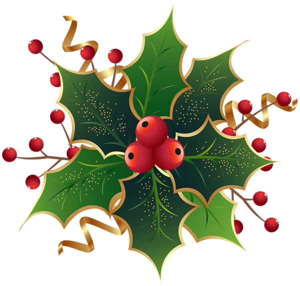 Christmas mistletoe png clip. Holly clipart whitechristmas