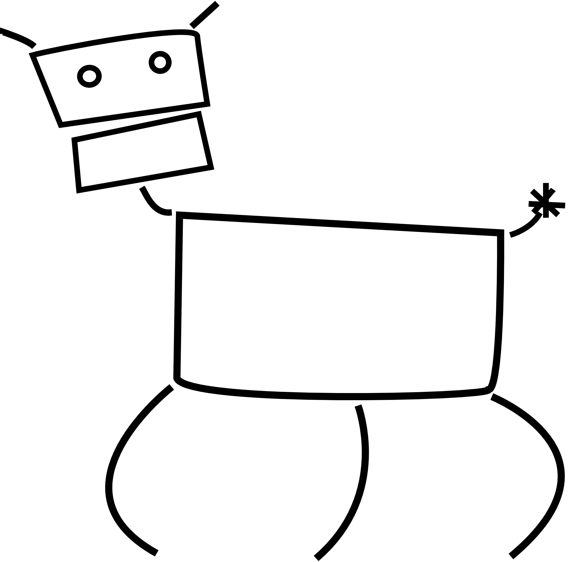 Free picture of a. Jumping clipart black and white