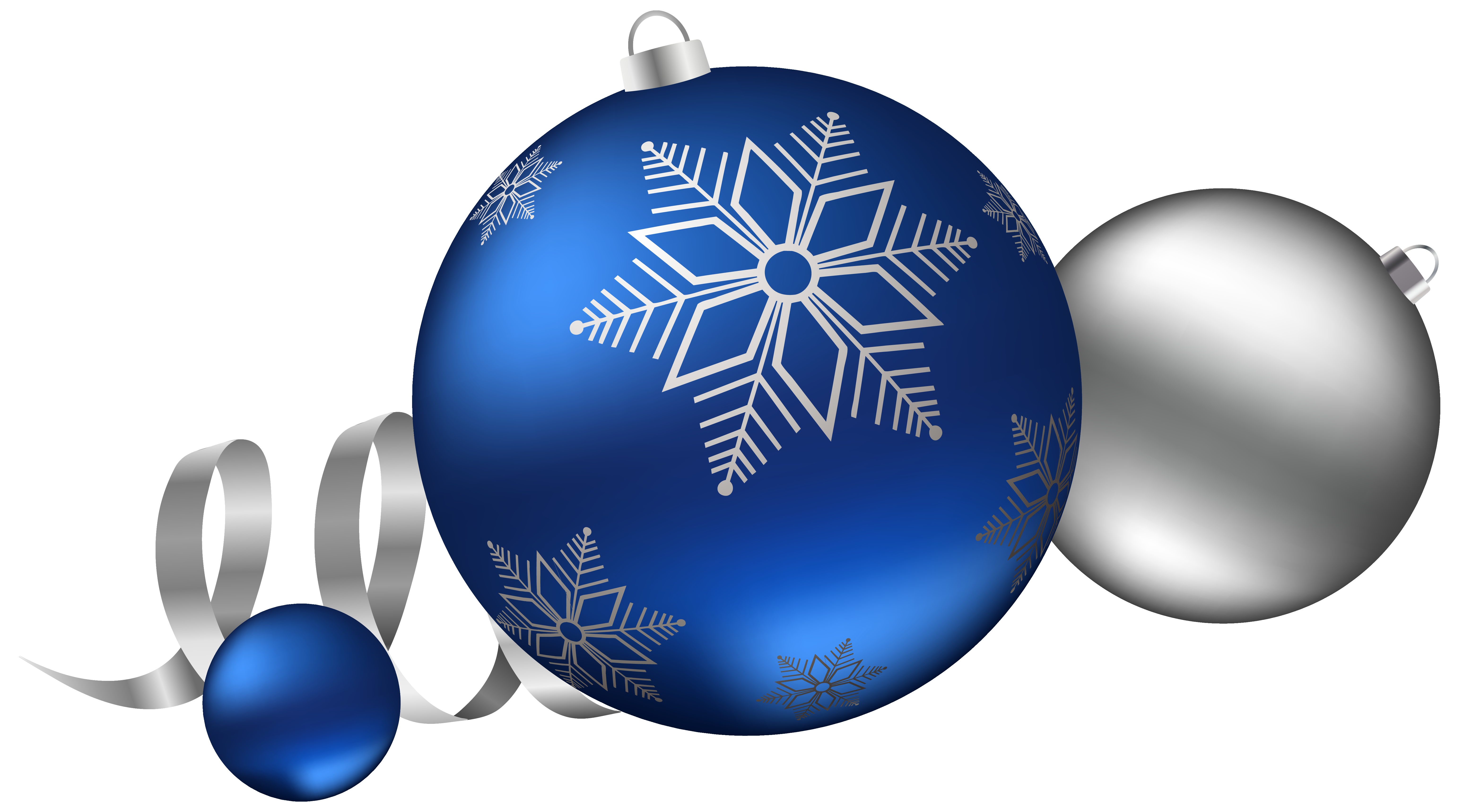 And blue christmas balls. Color clipart silver