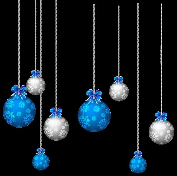 Ornaments blue christmas wreath