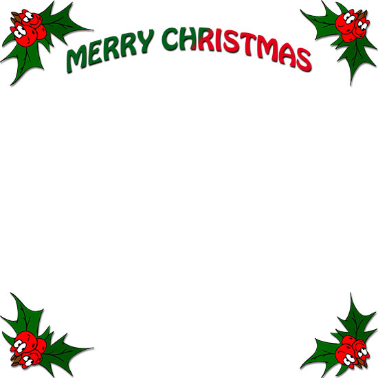 Free borders frames . Clipart christmas boarder