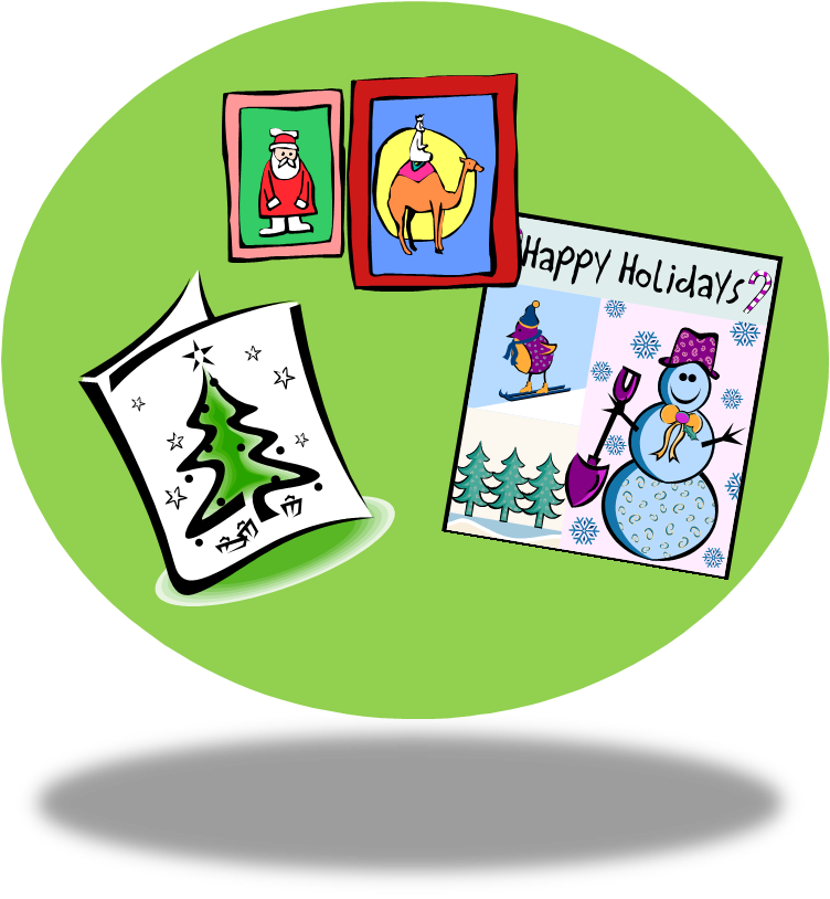 A teacher s idea. Clipart christmas card