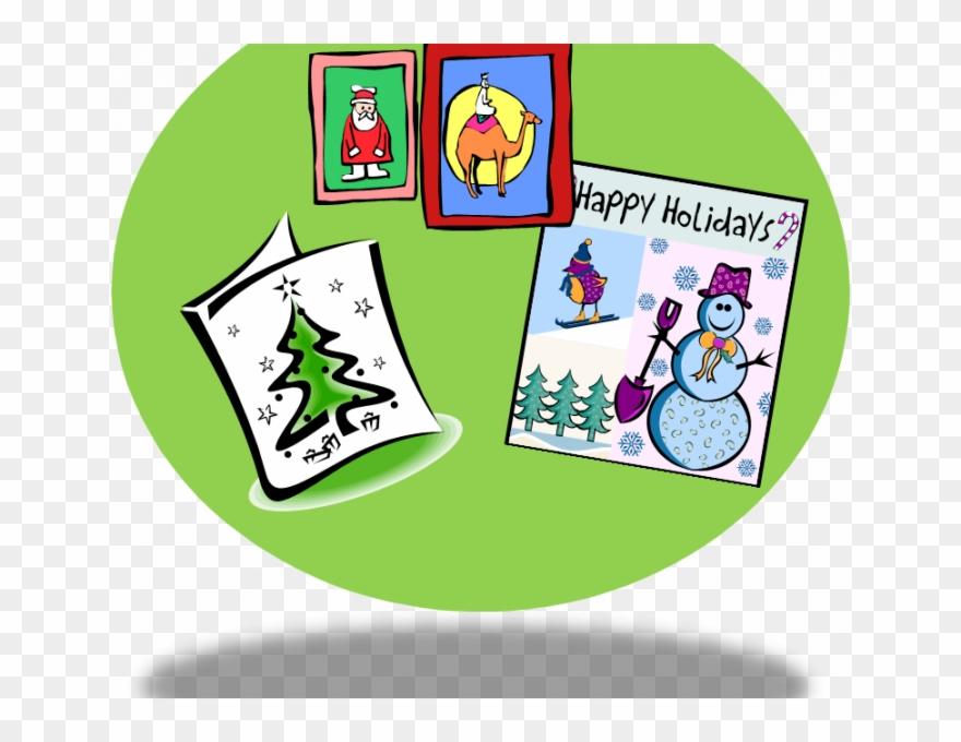 Clipart christmas card. Cards small clip art