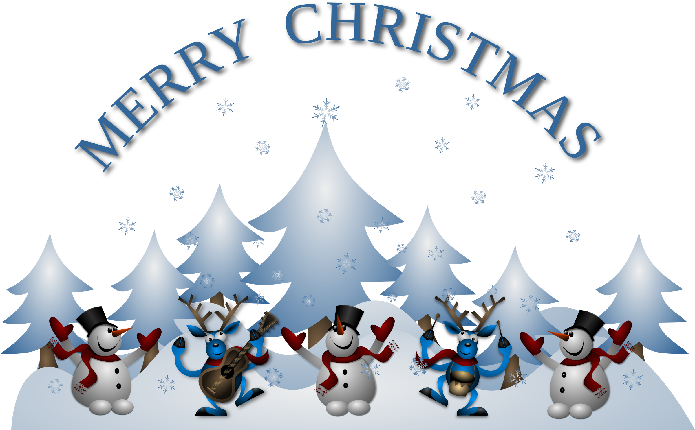Merry card front big. Dance clipart christmas