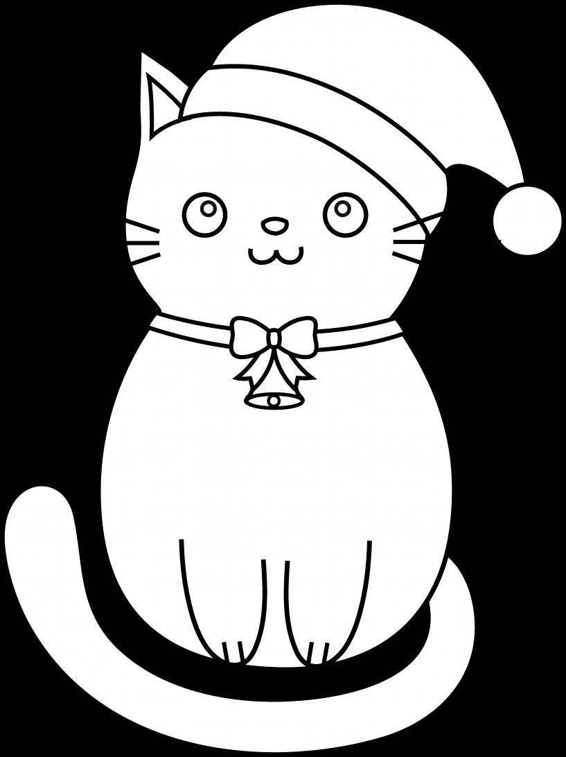 Kitty clipart christmas. Cat jokingart com