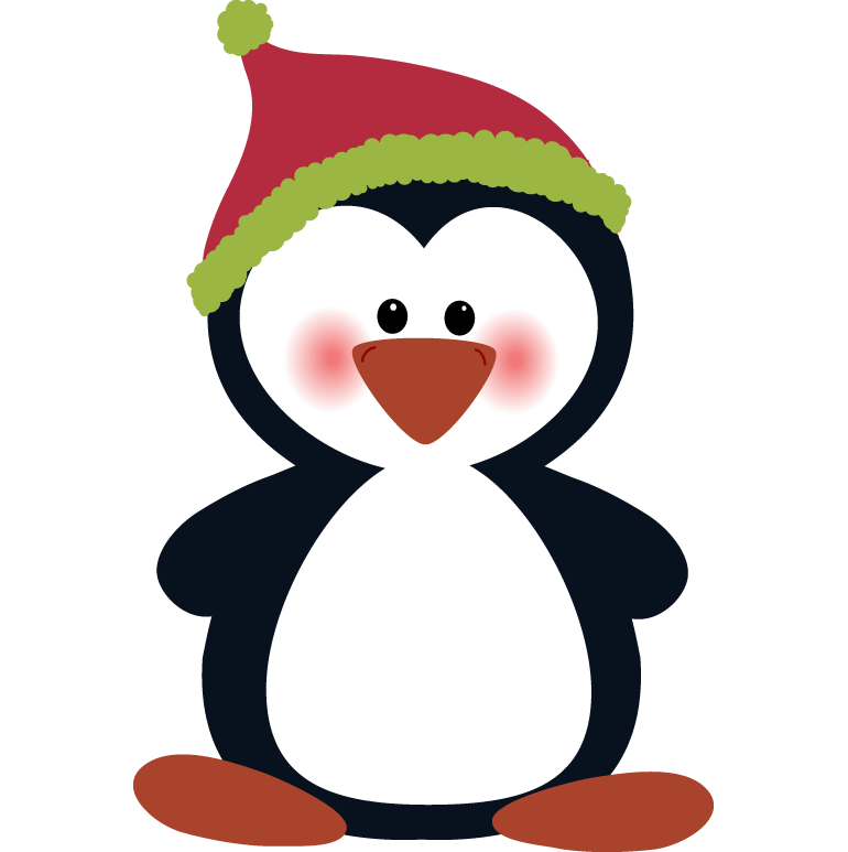 collection of penguin. Clipart penquin merry christmas