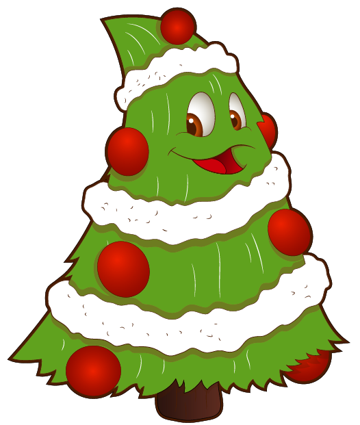Transparent funny small tree. Clipart volleyball christmas