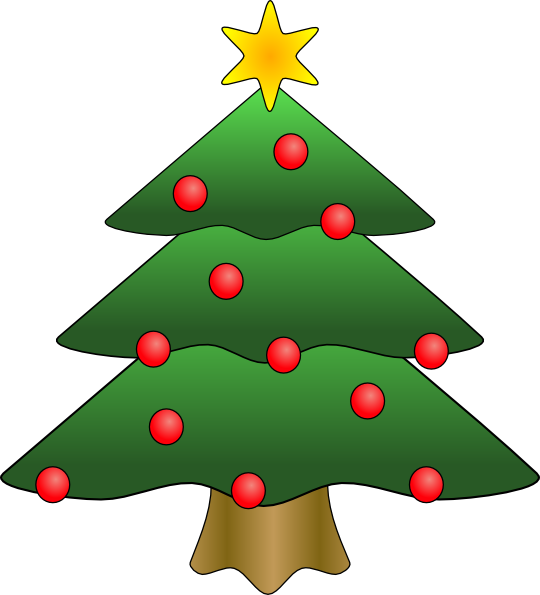 Tree in snow photo. Preschool clipart christmas