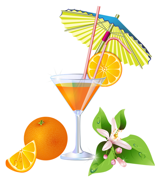 Clipart wedding cheer. Summer orange cocktail png