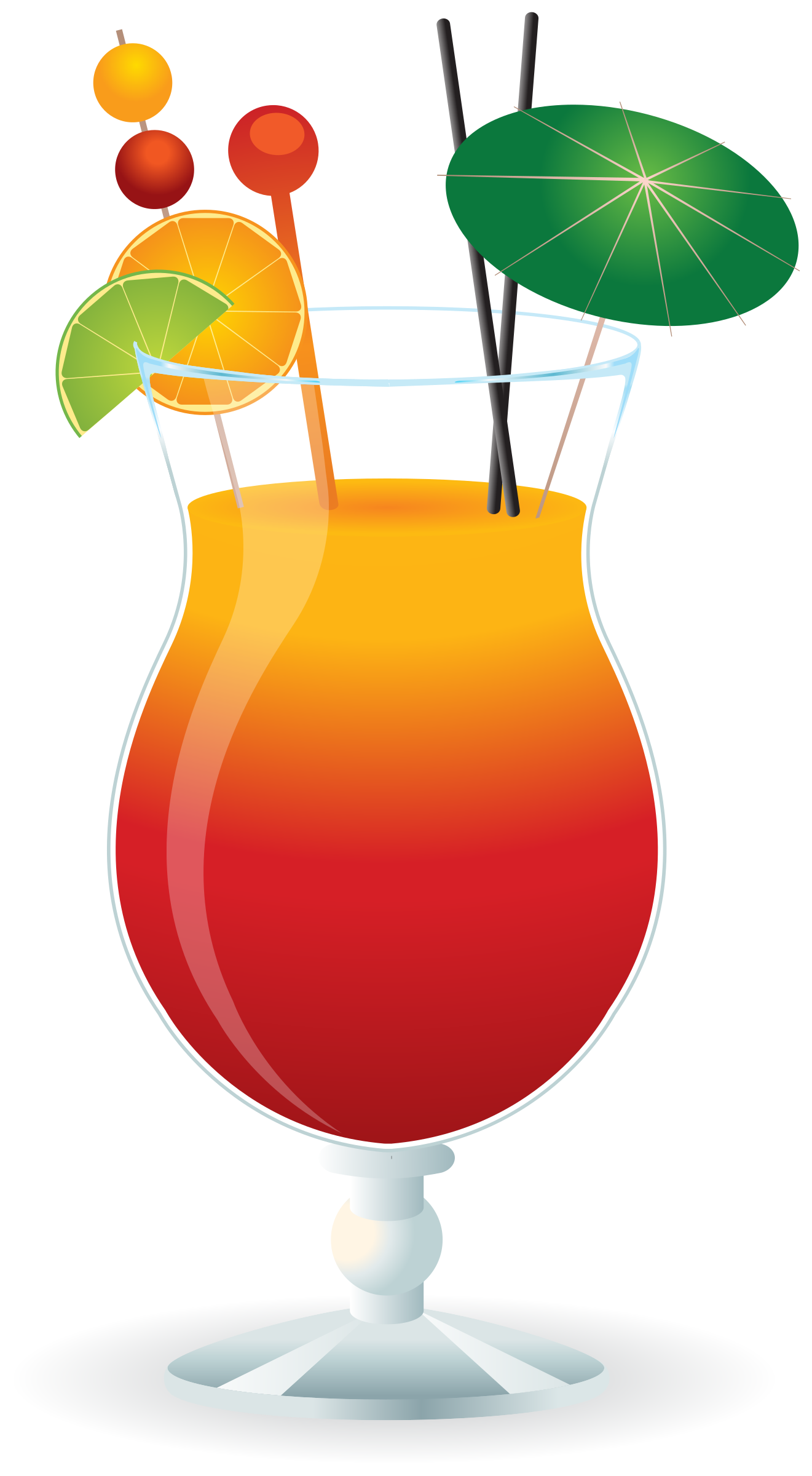 collection of cocktail. Hurricane clipart red