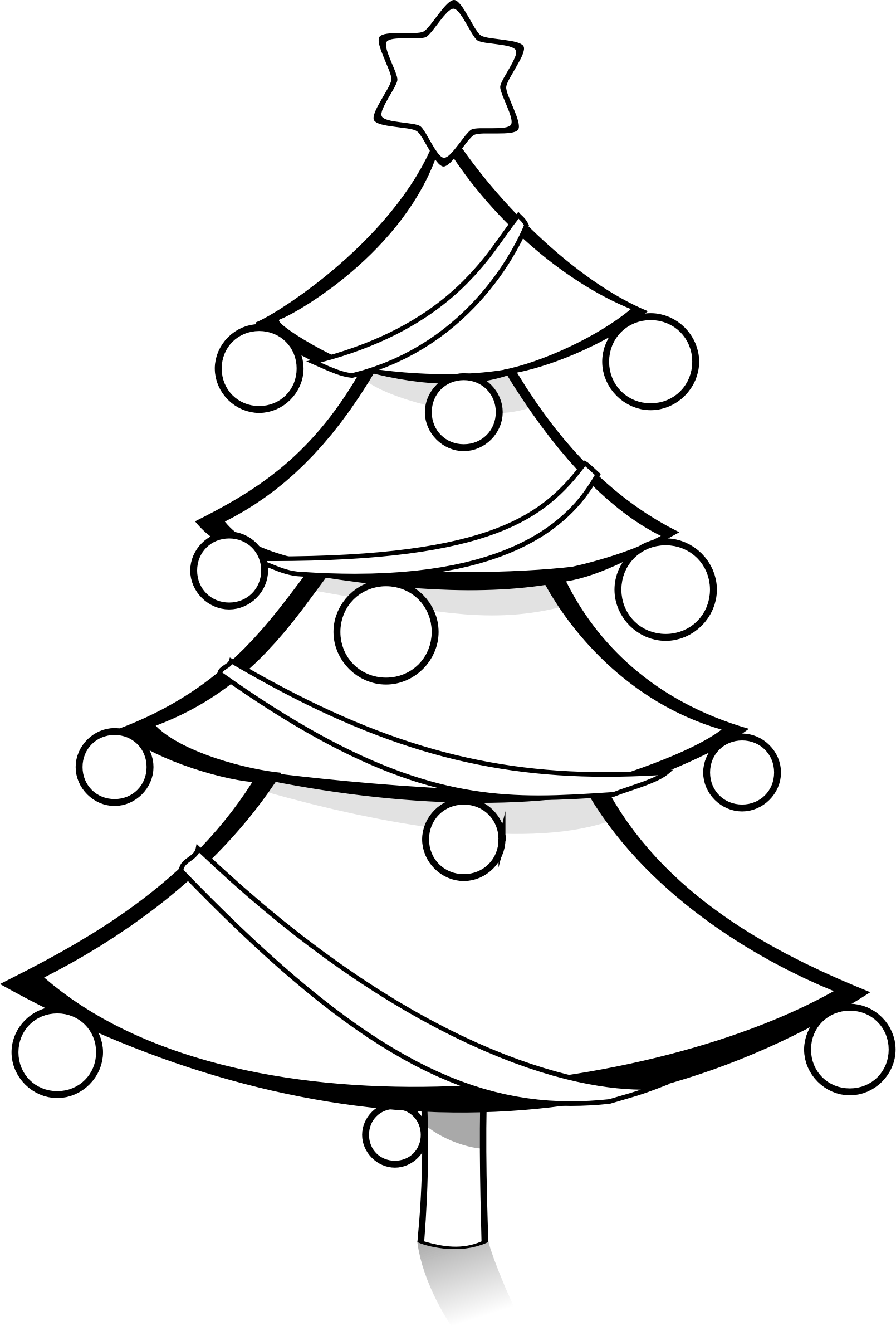 Tree coloring page big. Sports clipart christmas