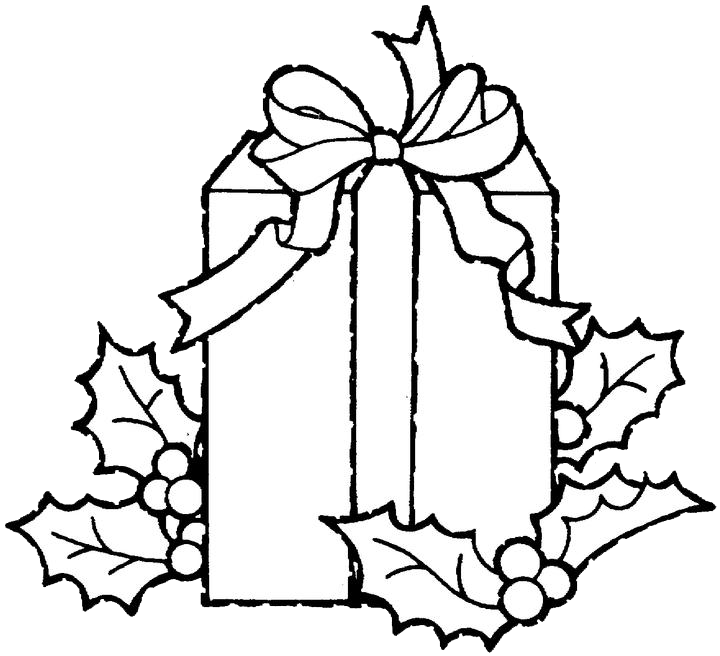 Gift coloring pages purple. Clipart present white christmas