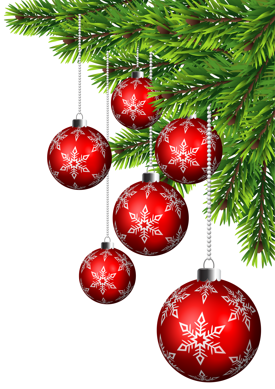 Balls decor clip art. Christmas corner border png