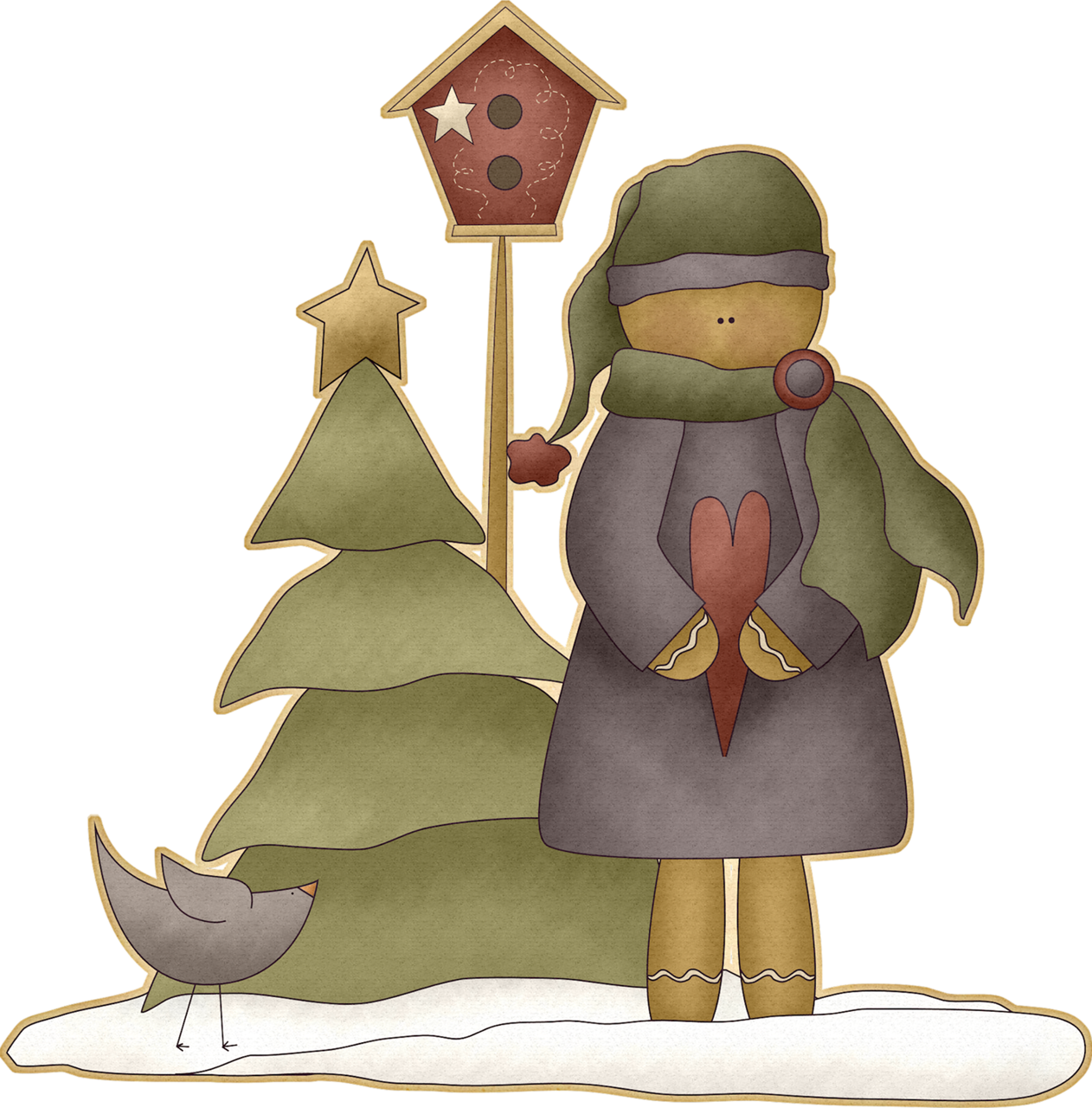 Scene png scrap christmas. Winter clipart country