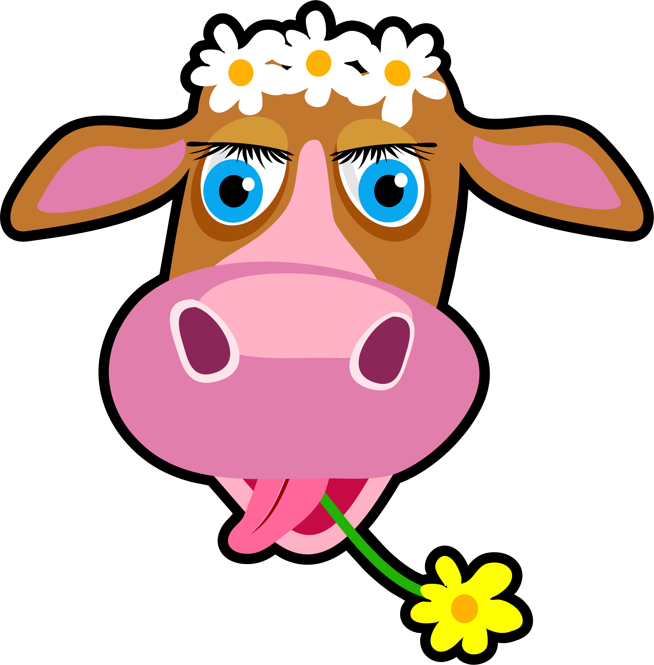 Daisy the big image. Clipart cow face