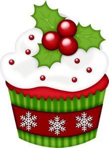 Cupcakes clipart christmas.  best cupcake images